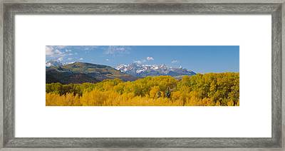 Autumn At Sneffels Mountain Range, San Framed Print by Panoramic Images
