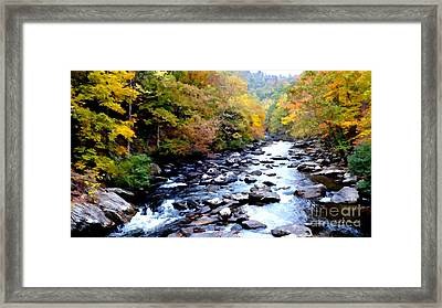 Autumn At Tellico River Framed Print
