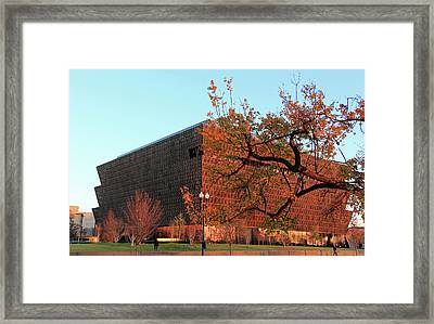 Autumn At The African American History And Culture Museum Framed Print by Cora Wandel