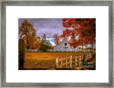Autumn At The Farm Framed Print