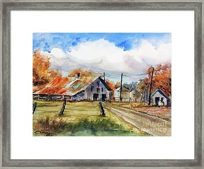 Autumn At The Farm Framed Print by Ron Stephens