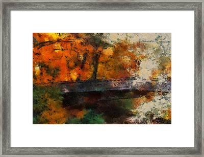 Autumn At The Foot Bridge 03 Framed Print