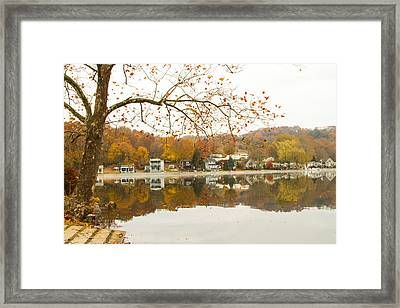 Autumn At The Housatonic Framed Print