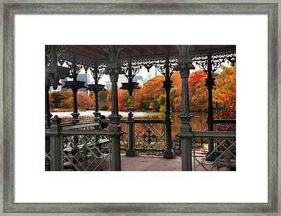 Autumn At The Ladies Pavilion Framed Print