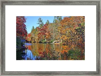 Autumn At The Lake 2 Framed Print
