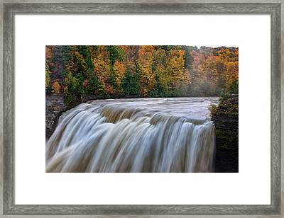 Autumn At The Middle Falls  Framed Print by Rick Berk