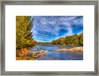 Autumn At The Moose River Road Framed Print by David Patterson