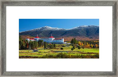 Autumn At The Mount Washington Crop Framed Print