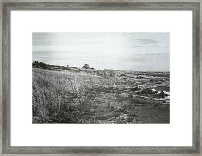 Framed Print featuring the photograph Autumn At The Mouth Of The Big Sable 2.0 by Michelle Calkins