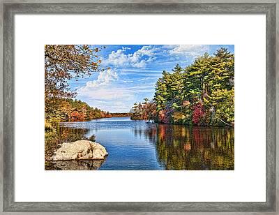 Autumn At The Pond Framed Print