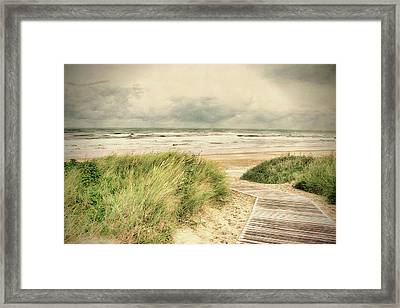 Autumn At The Sea Framed Print by Nicole Frischlich