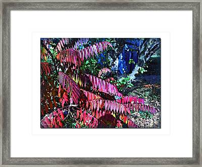 Framed Print featuring the photograph Autumn At The Taverne by Joan  Minchak