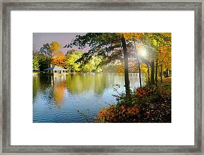 Autumn At Tilley Pond Framed Print by Diana Angstadt