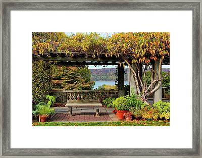 Autumn At Wave Hill Framed Print