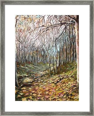 Autumn - Automne Framed Print