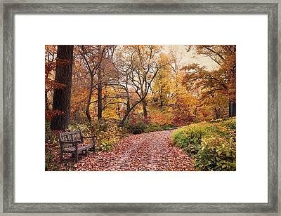Autumn Azalea Garden Framed Print