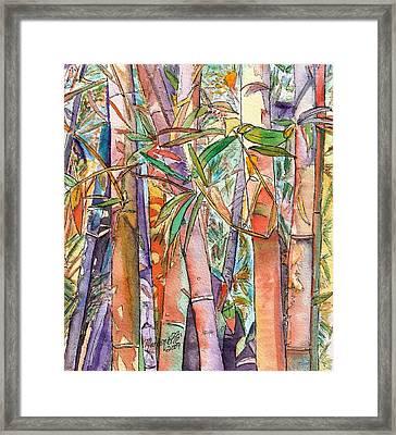 Autumn Bamboo Framed Print by Marionette Taboniar