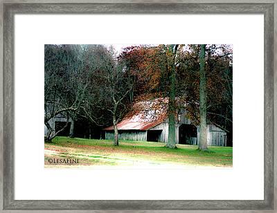 Autumn Barn In Alabama Framed Print
