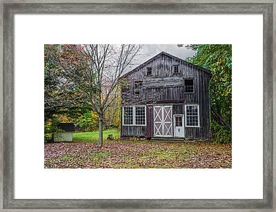 Autumn Barn Scene Framed Print