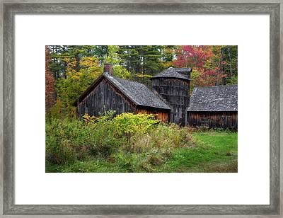 Autumn Barnwood Framed Print