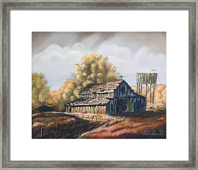 Autumn Barnyard Framed Print