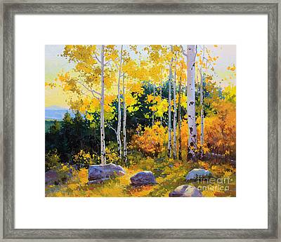 Autumn Beauty Of Sangre De Cristo Mountain Framed Print by Gary Kim