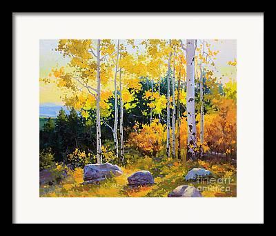Autumn Landscape Poster Framed Prints