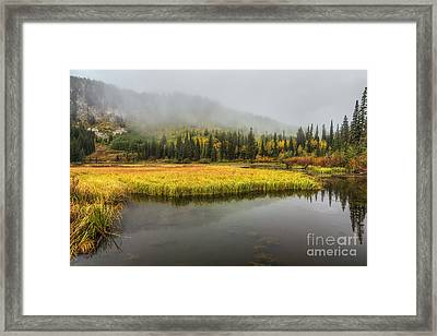 Autumn Begins At Silver Lake Framed Print