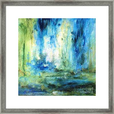 Framed Print featuring the painting Spring Rain  by Laurie Rohner