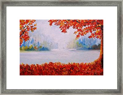 Autumn Blaze Maple Trees Framed Print