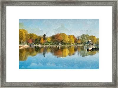 Autumn Blues Framed Print