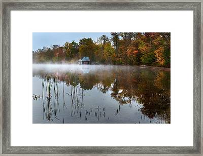 Autumn Boathouse Framed Print by Bill Wakeley
