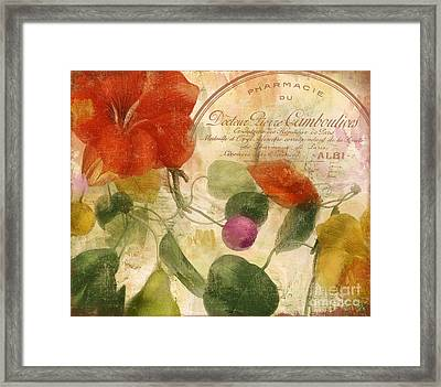 Autumn Botanical Garden Framed Print