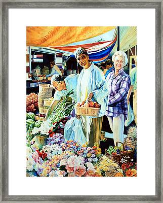 Autumn Bounty Framed Print by Hanne Lore Koehler