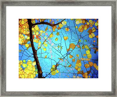 Autumn Branches At Play Framed Print