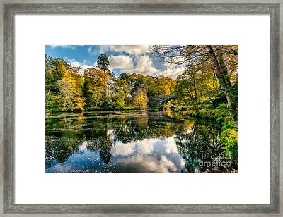 Autumn Bridge Framed Print by Adrian Evans