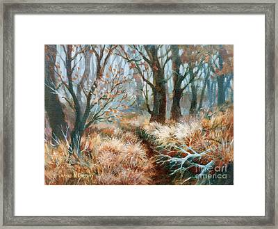Autumn Brush Framed Print by JoAnne Corpany