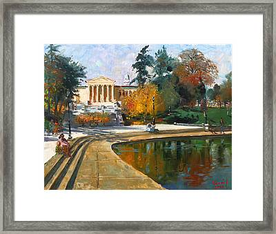 Autumn By Delaware Lake Framed Print by Ylli Haruni