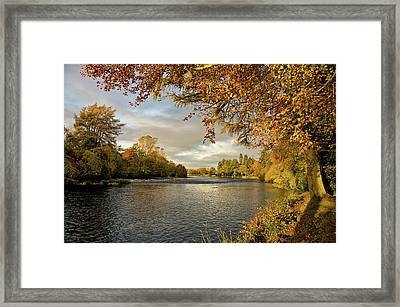 Autumn By The River Ness Framed Print