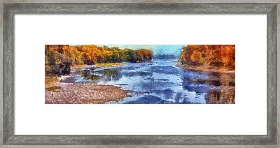 Autumn By The River Framed Print