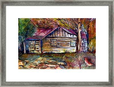 Autumn Cabin Framed Print by Mindy Newman