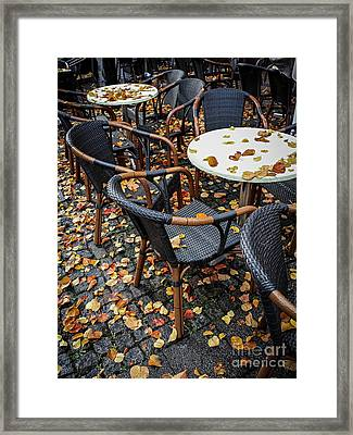 Framed Print featuring the photograph Autumn Cafe by Elena Elisseeva