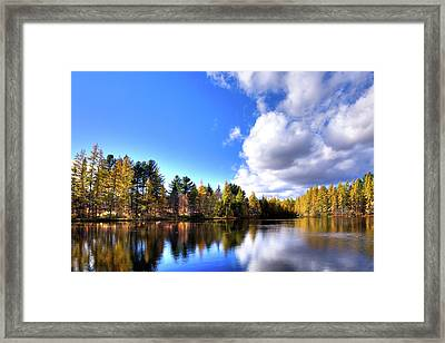 Framed Print featuring the photograph Autumn Calm At Woodcraft Camp by David Patterson