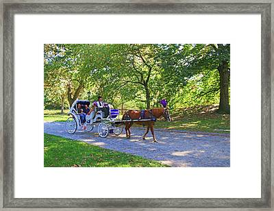 Autumn Carriage Ride Framed Print by Allen Beatty