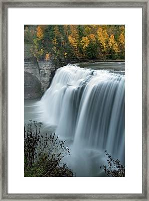 Autumn Cascade Framed Print by Timothy McIntyre
