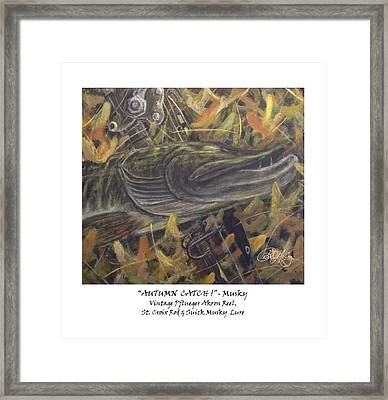 Autumn Catch - Musky Framed Print by Peter McCoy
