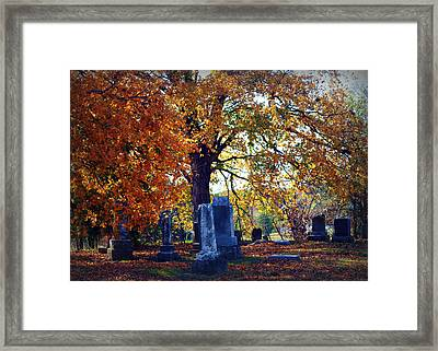 Autumn Cemetery Framed Print
