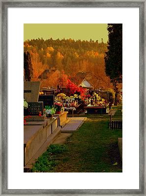 Autumn Cemetery Framed Print