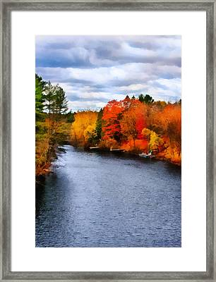 Autumn Channel Framed Print