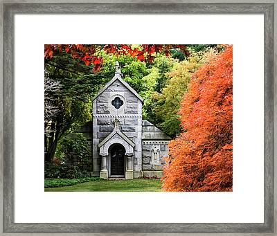 Autumn Chapel Framed Print